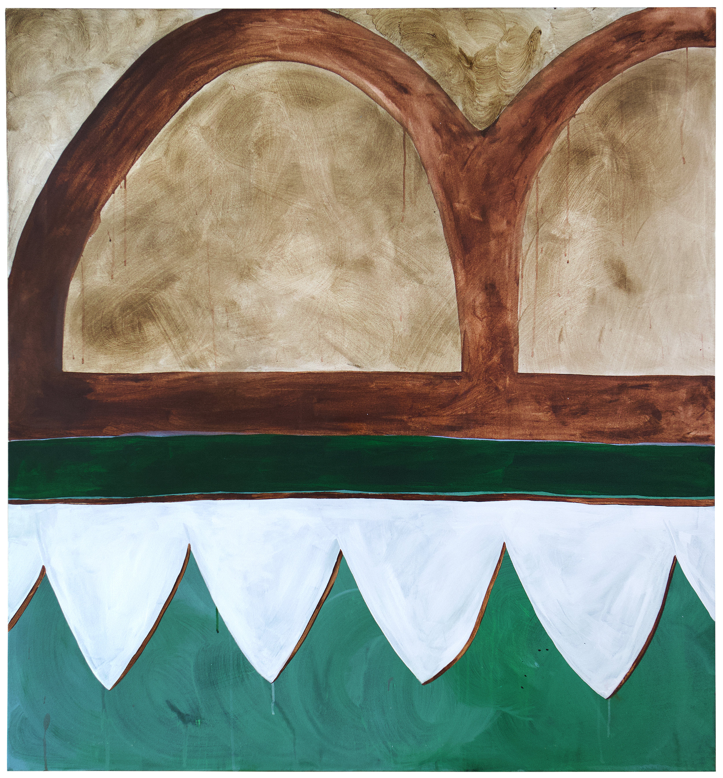 Sophie Lourdes Knight  The Arches , 2018  acrylic on canvas 60h x 56w in