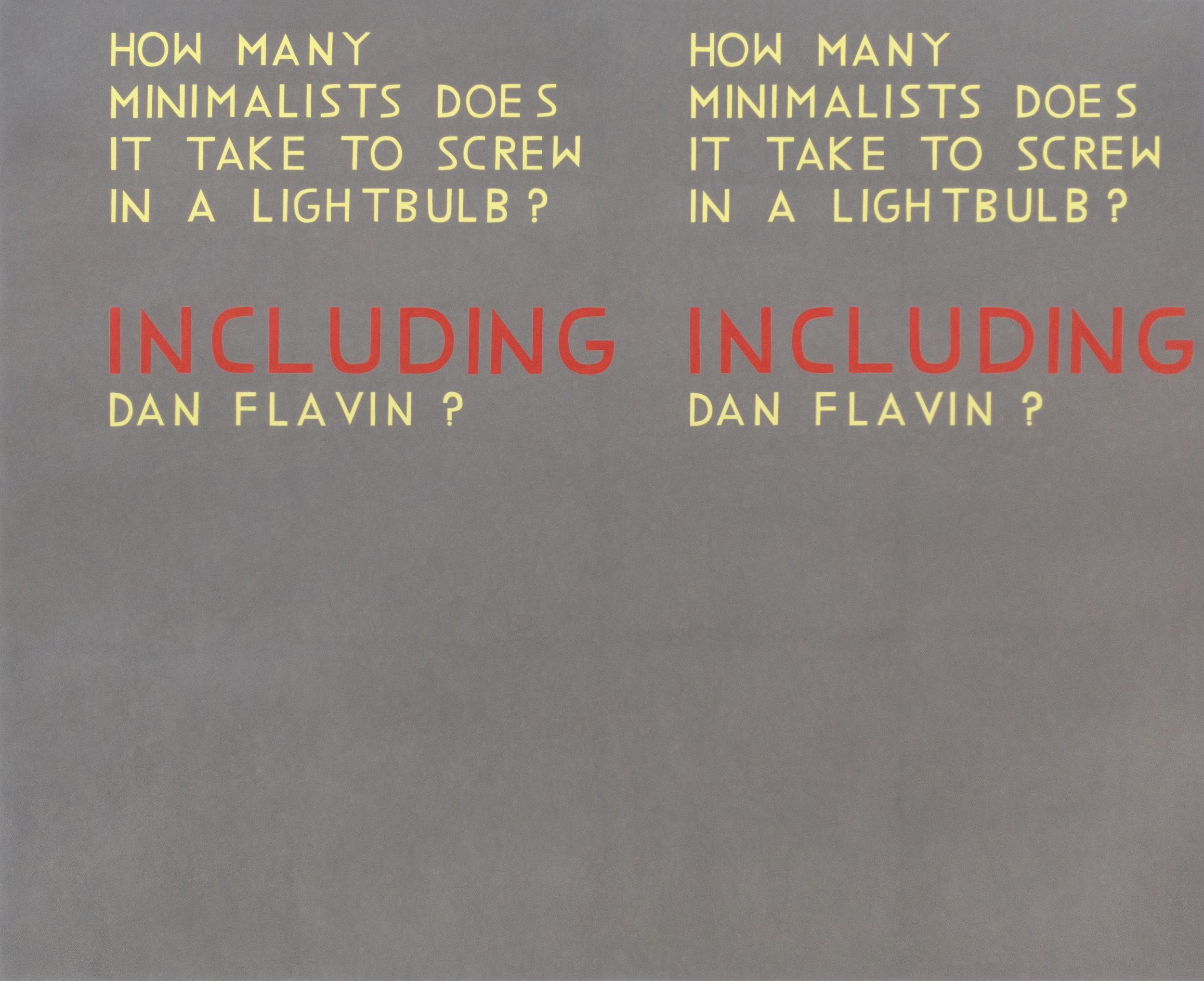 David X. Levine  HOW MANY MINIMALISTS DOES IT TAKE TO SCREW IN A LIGHTBULB 5 , 2016  colored pencil on paper  52h x 64w in