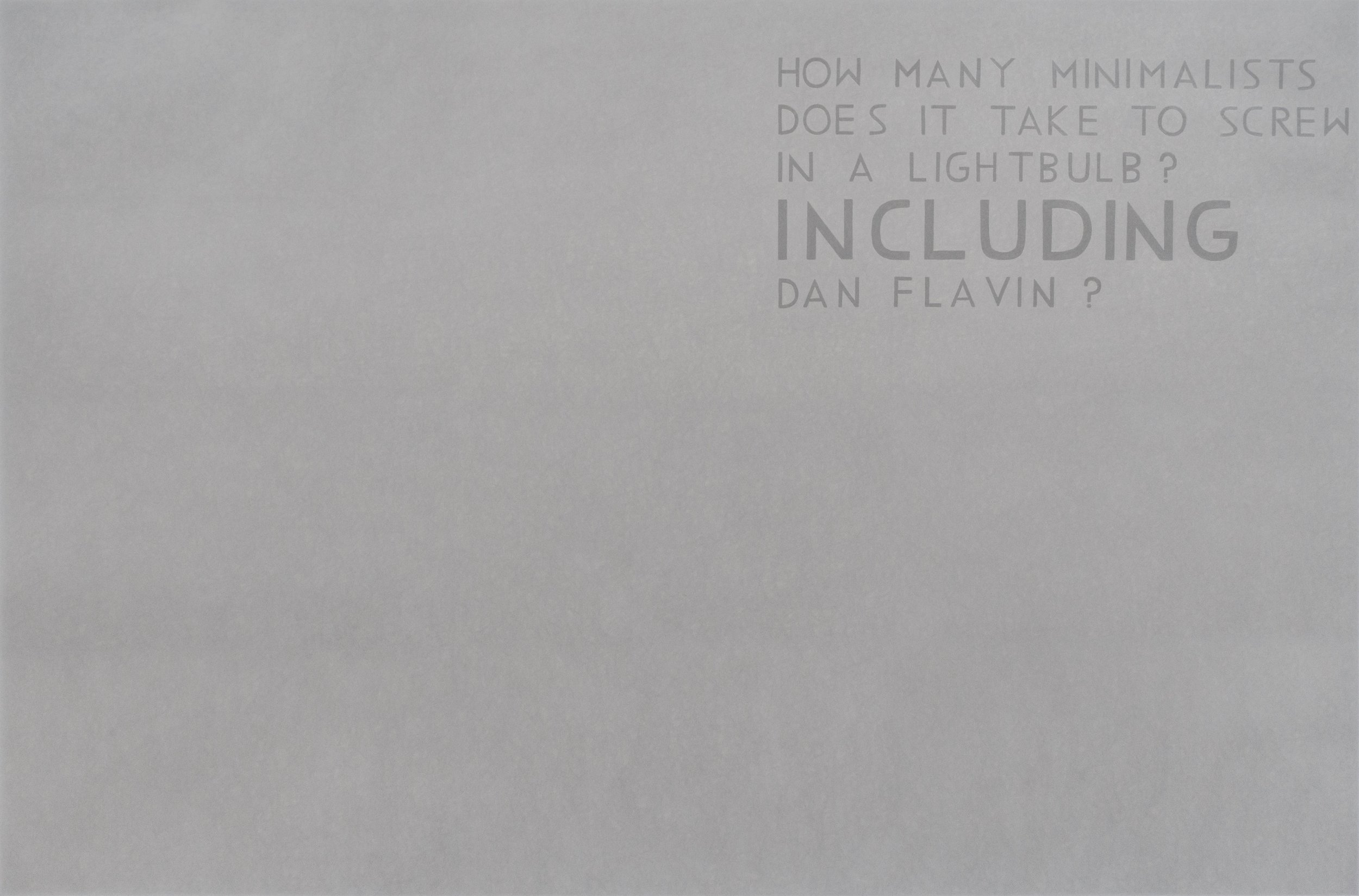 David X. Levine  HOW MANY MINIMALISTS DOES IT TAKE TO SCREW IN A LIGHTBULB 6 , 2016  colored pencil on paper  52h x 79w in