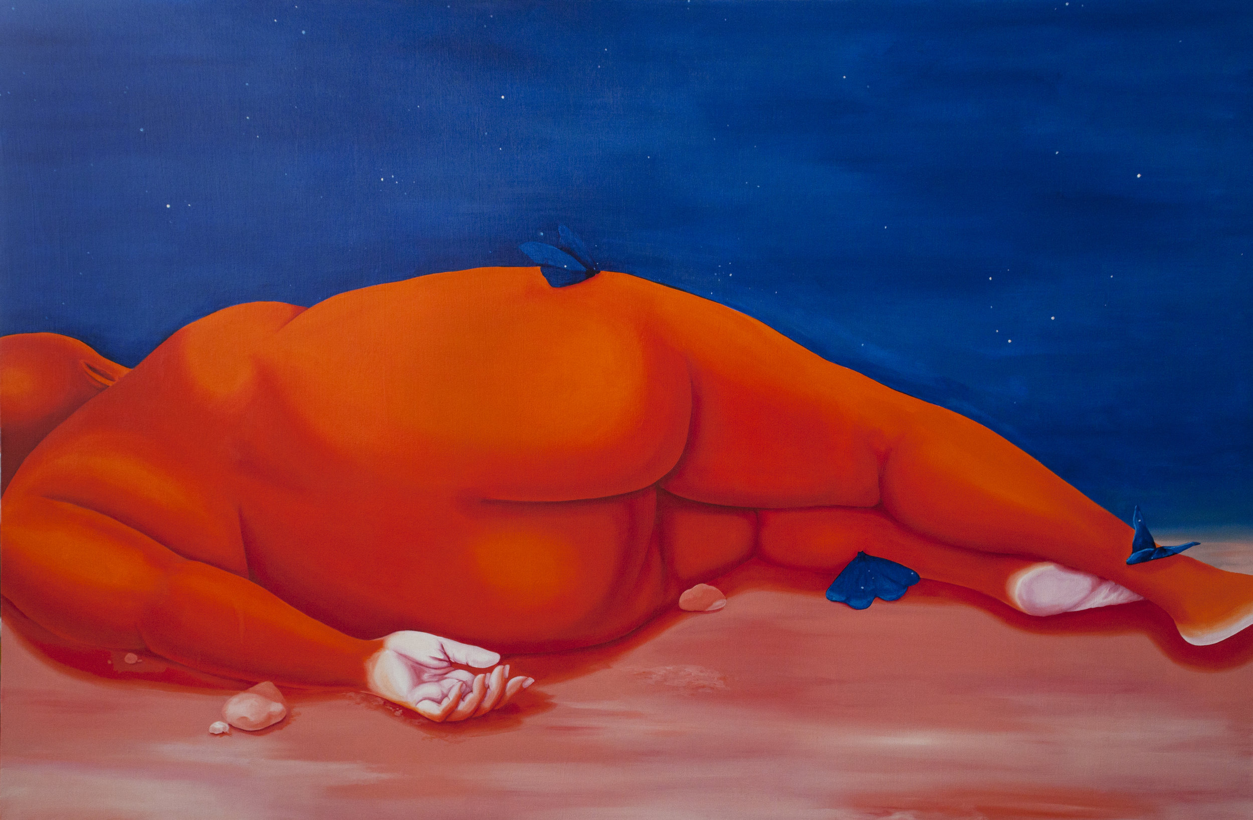 Brittney Leeanne Williams  An Unmoving Rock , 2019 oil and acrylic on canvas 40h x 60w in