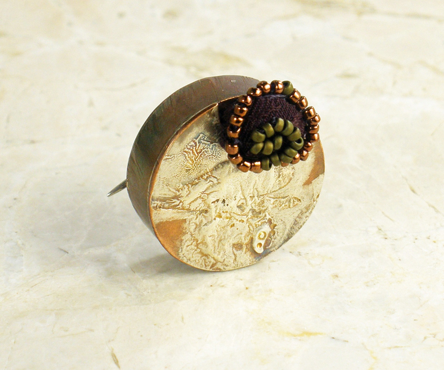 Silver reticulation on a copper hollow form