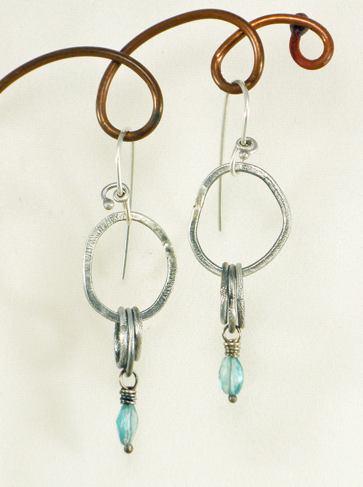 Silver reticulation on fabricated wire with patina