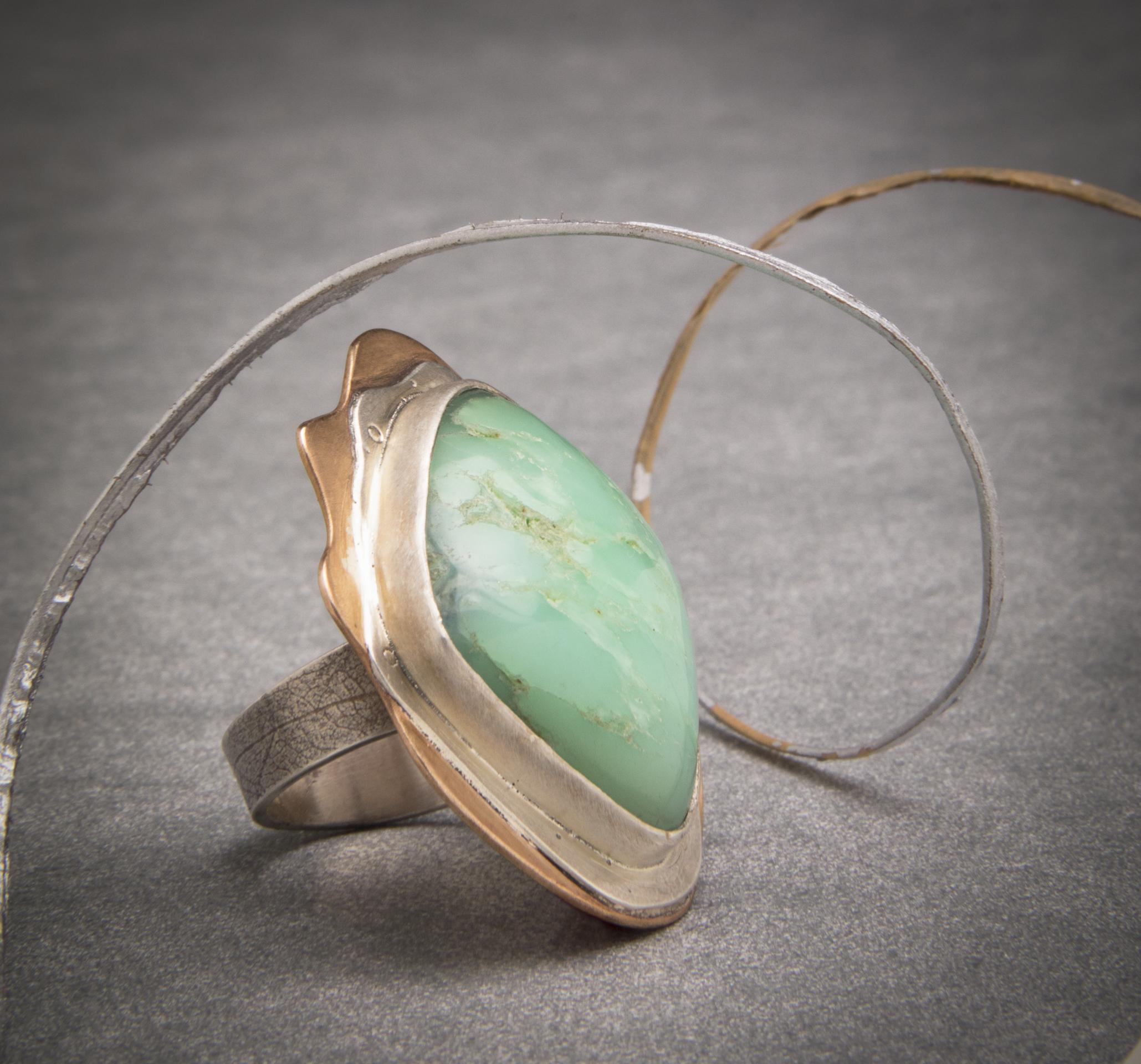 Chalcedony, Sterling, Bronze