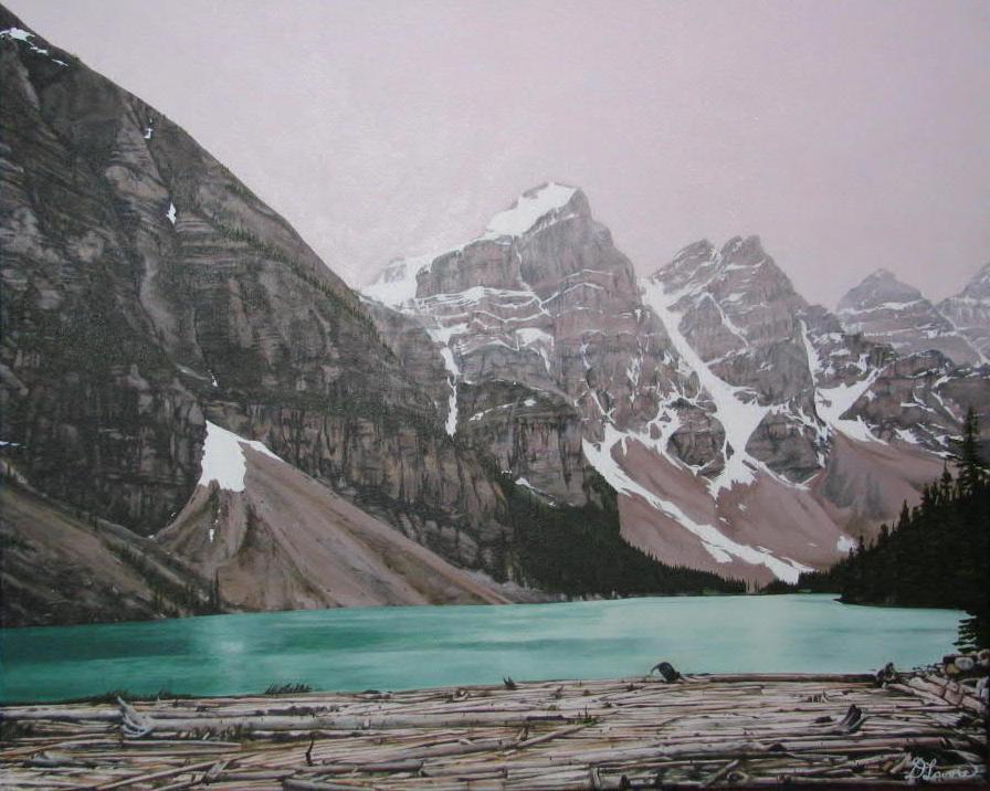 MoRraine Lake - Acrylic on Canvas - 24