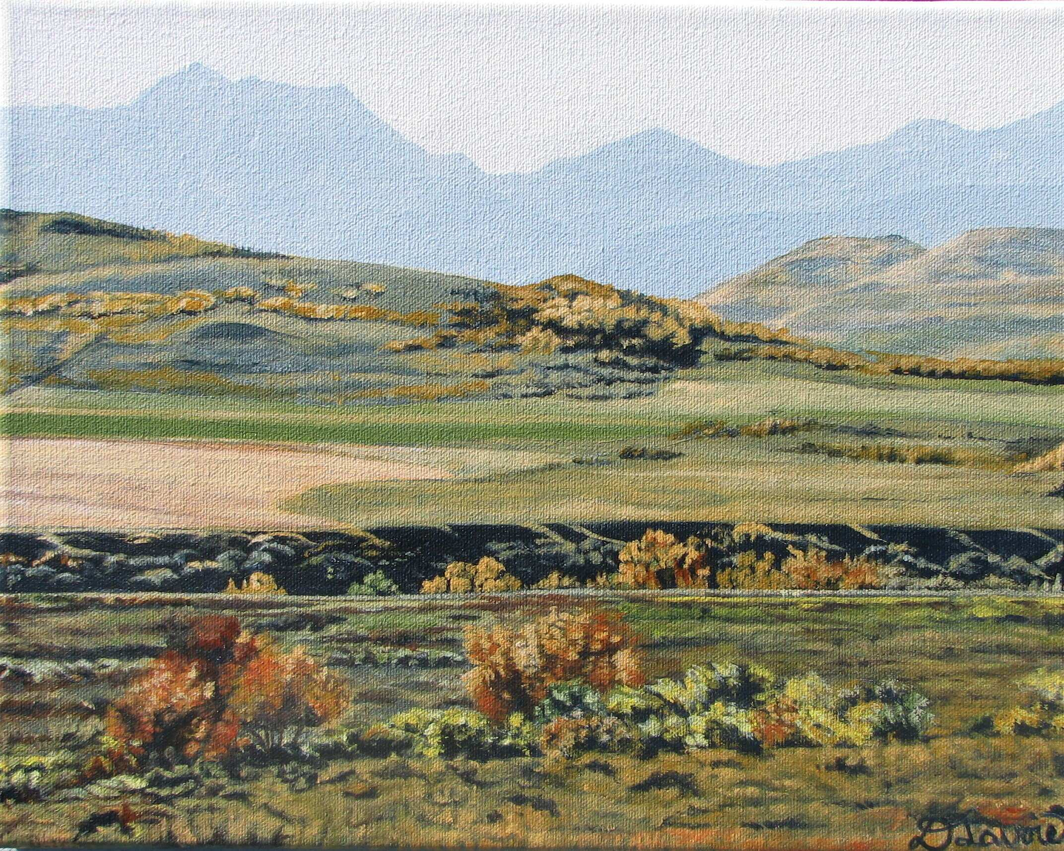 Another Foothills Autumn - Acrylic on Canvas - 11