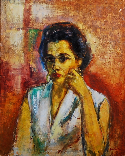 Portrait of Vernice Brown Lassiter executed by Valdi Maris during summer studies of 1964. Resides in Collection of Monica Lassiter Ard.