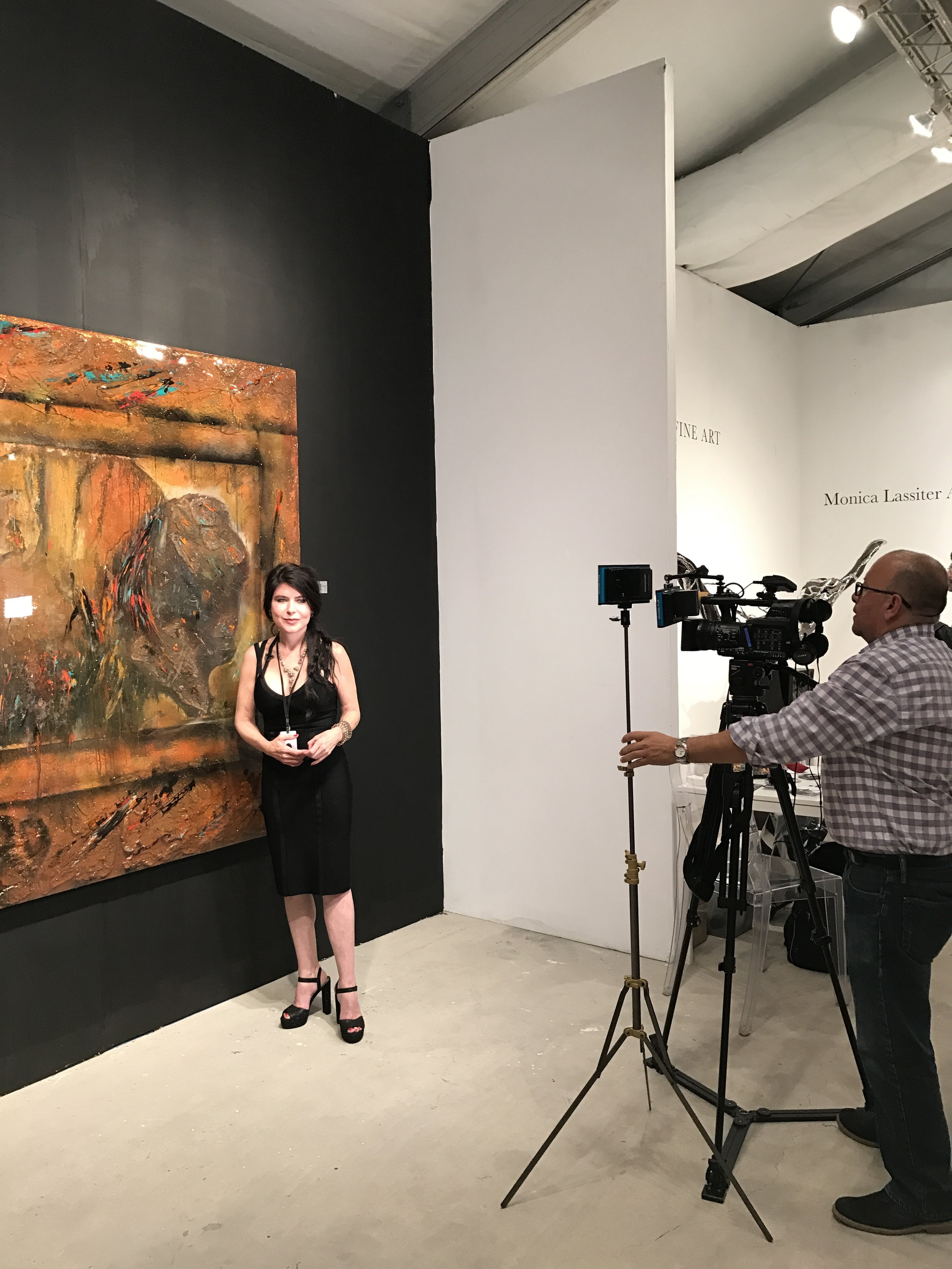 Monica Ard interviewed by Vive News at Art Wynwood 2017. One of her pieces,  Olympic , sold for one of the highest prices at the fair.