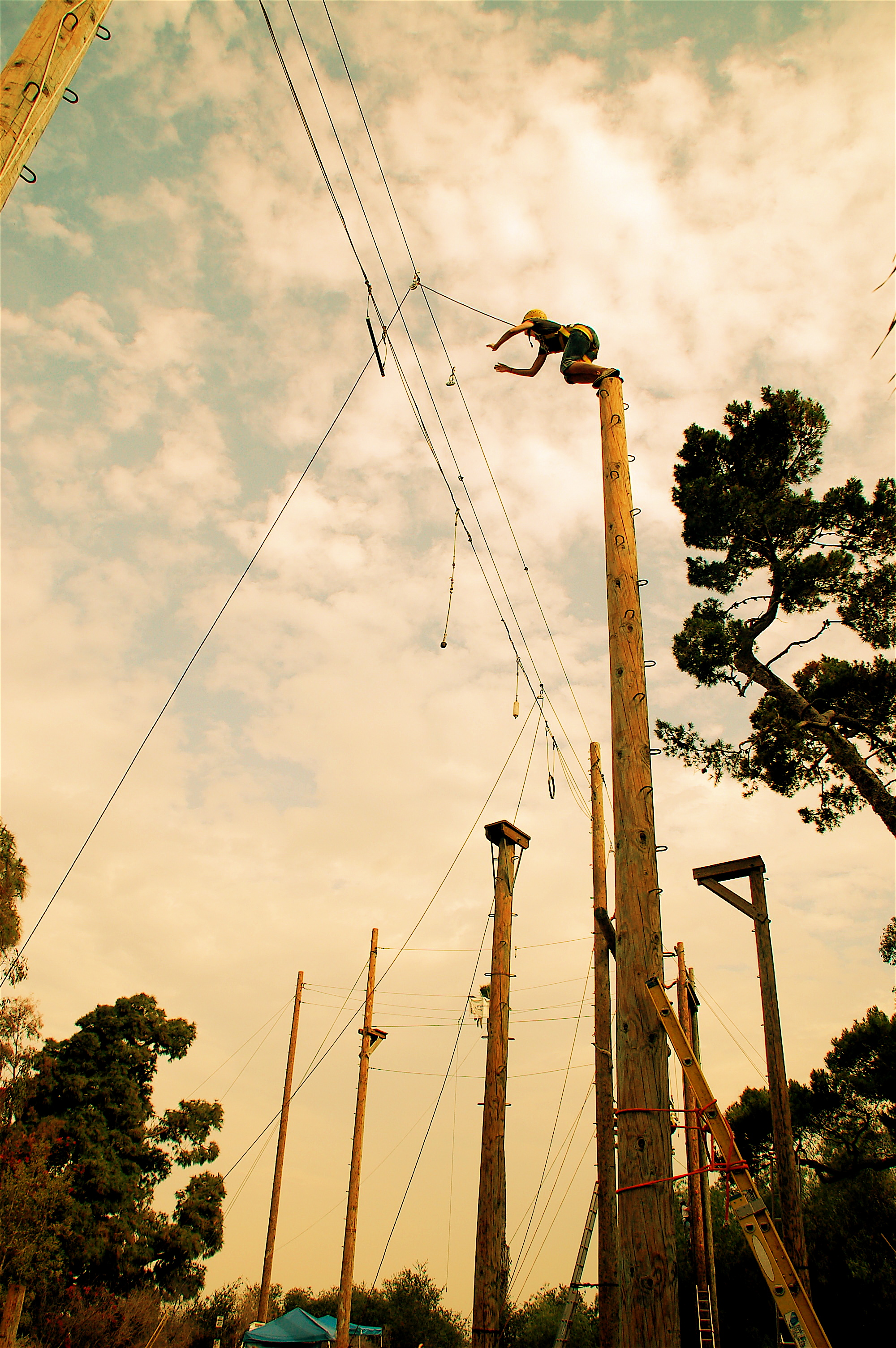 Culver City Ropes Course Man Leaping.JPG