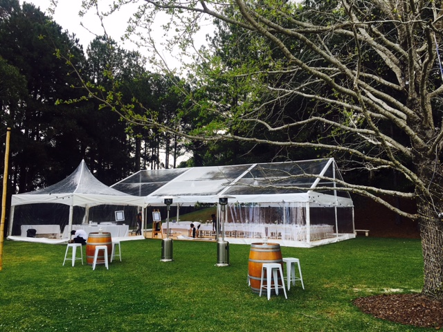 10 x 15m Clear Marquee with 5 x 5m Pagoda