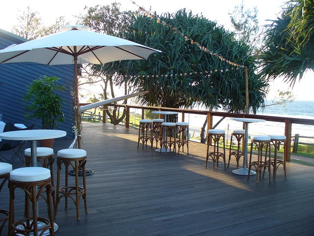 Market Umbrellas & dry bars with bentwood timber stools.JPG