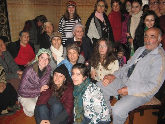 Kitka in Aparan, Armenia with Hasmik Hartyunyan, Jora Grigorian & ethnomusicology students from The Komitas Conservatory of Yerevan 2010