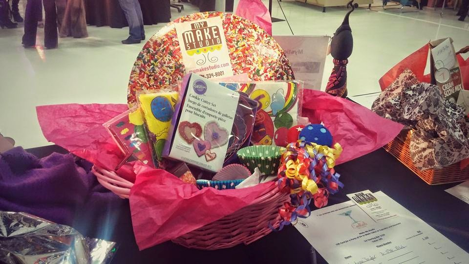 Gift basket auctioned off at Cocktails for a Cause