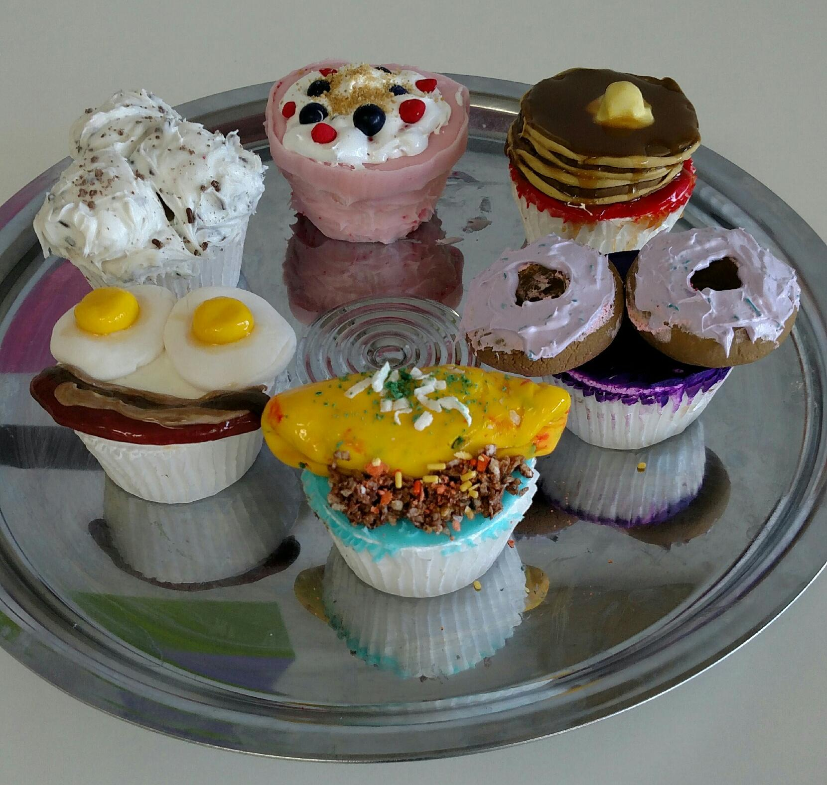 Breakfast Food Cupcakes