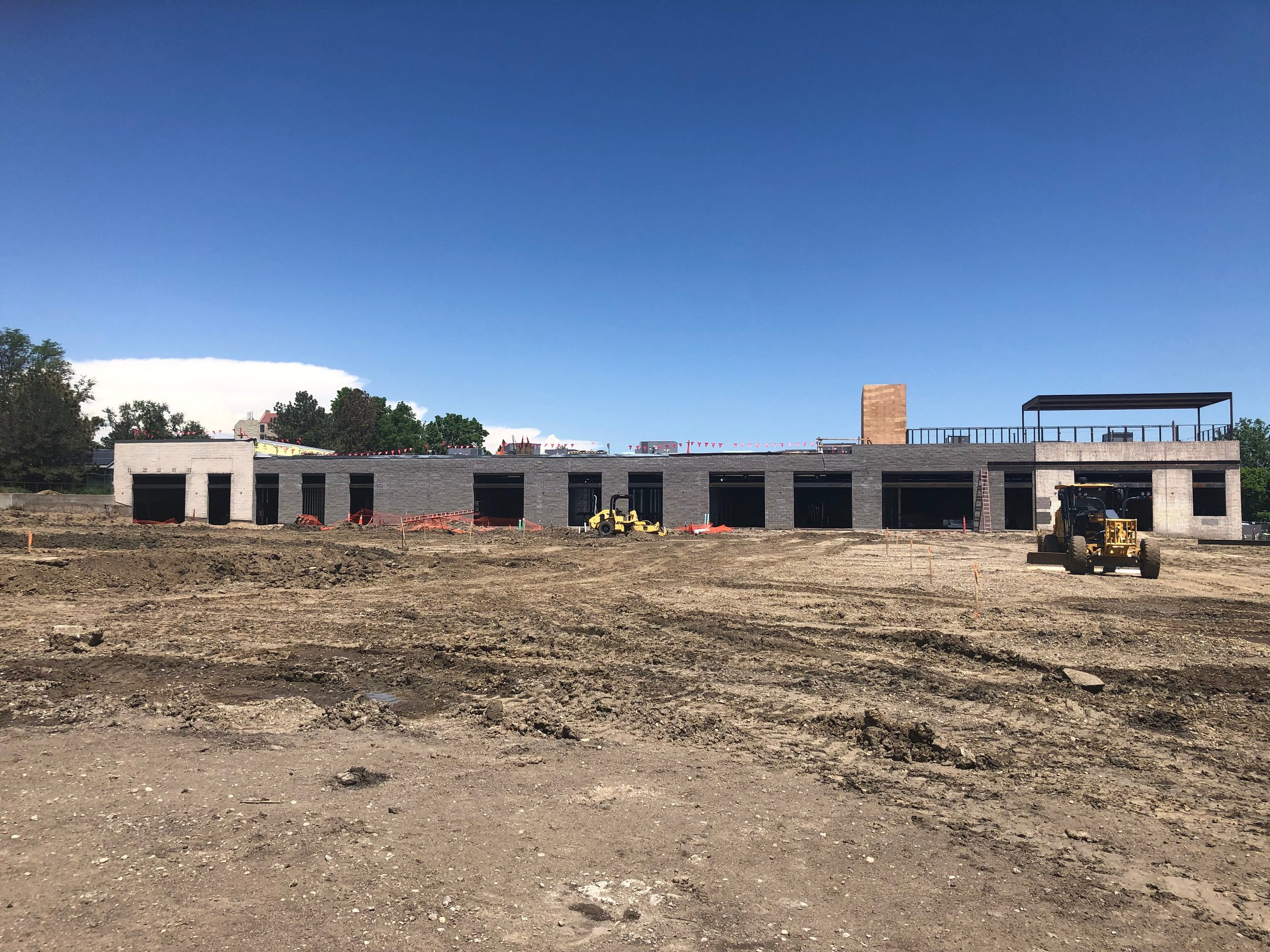 Our new site in early June