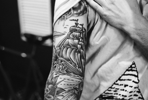 vintage arm tattoo