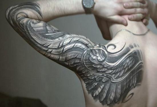 shoulder wing tattoo