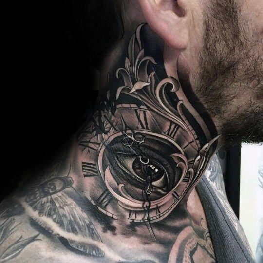 tattoo on the neck