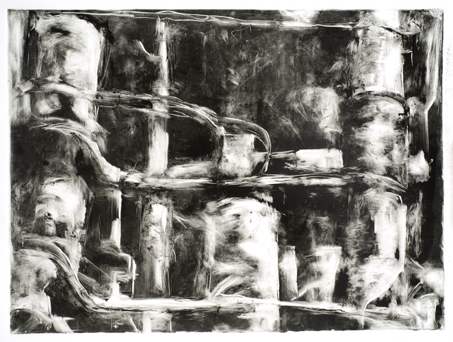 "Industrial Landscapes   Monotype [Framed]  22"" x 30""  $1,500"