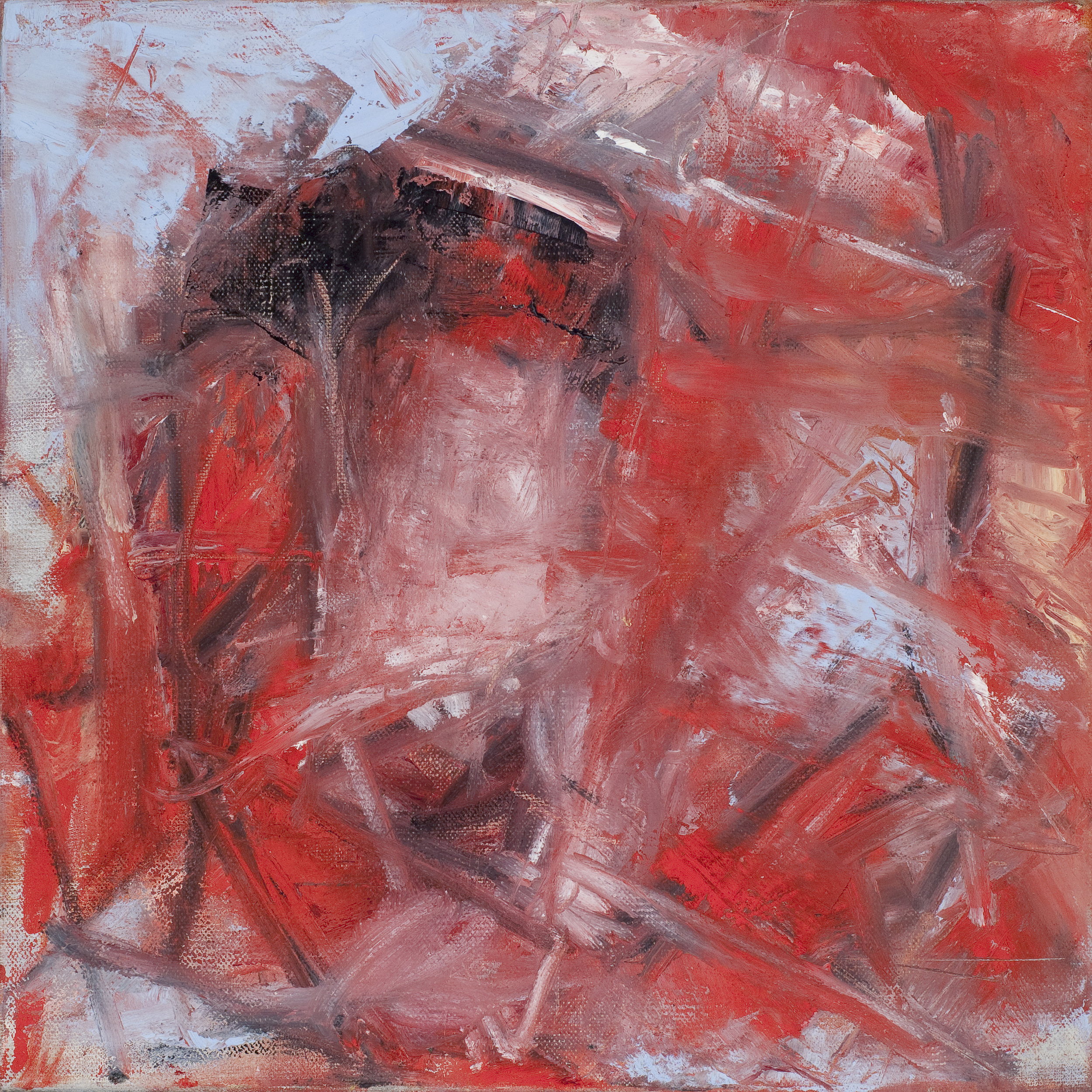"Triptych In Red No.1   Oil on Canvas  12"" x 12""  $500"