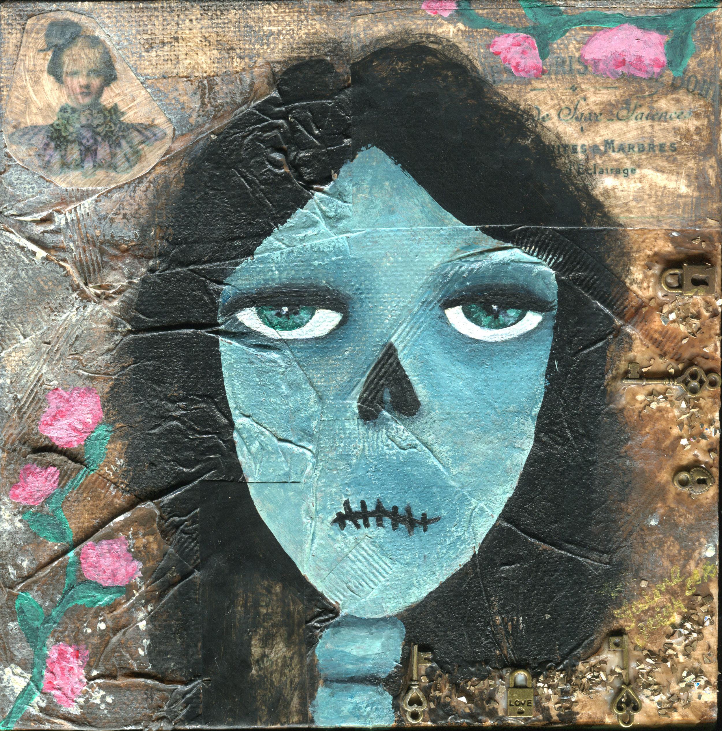Vintage Skull Lady