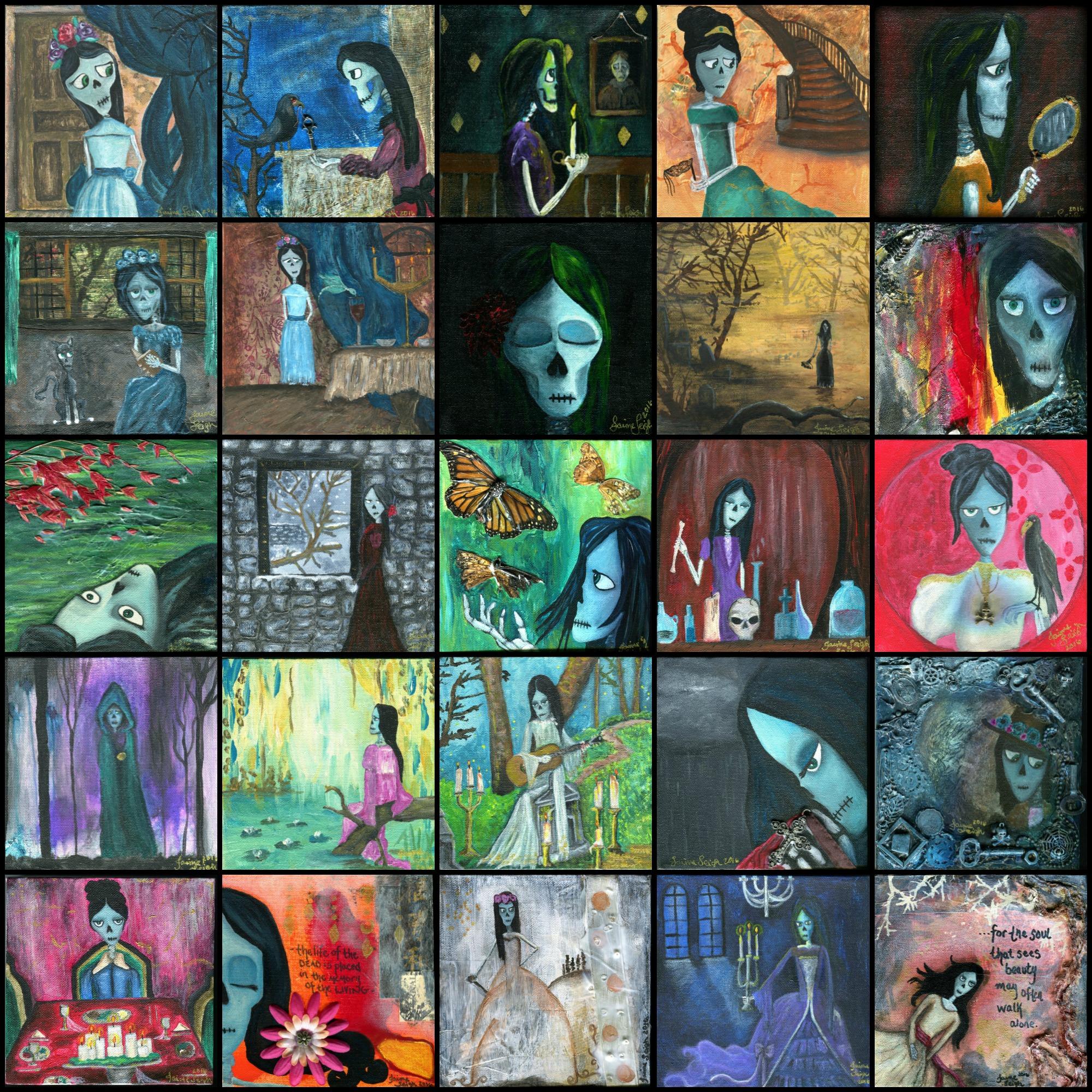 Skull Paintings Days 1-25