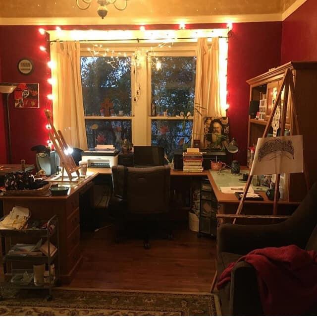 My home art studio in 2019