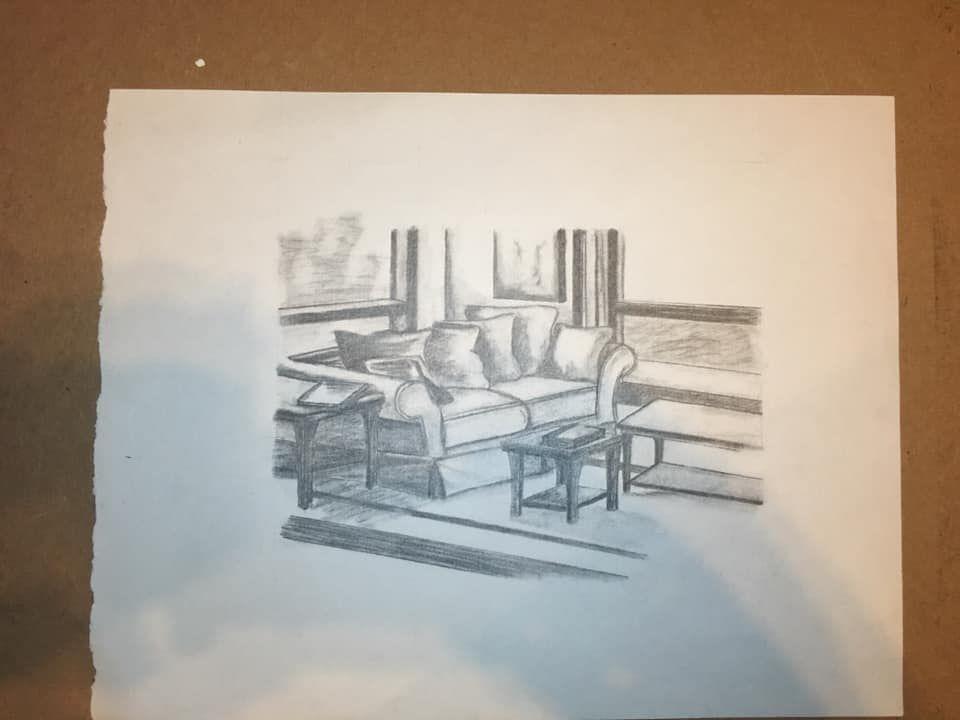 Living room study, 2006