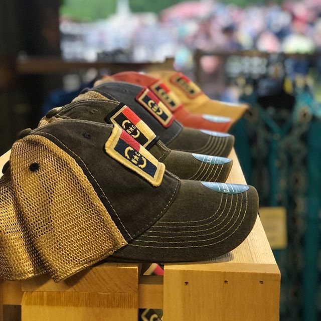 A nice shot from staff member, @sarah_stanley_22 from the rodeo and our display of NC hats. You can find these on Amazon or on our website.
