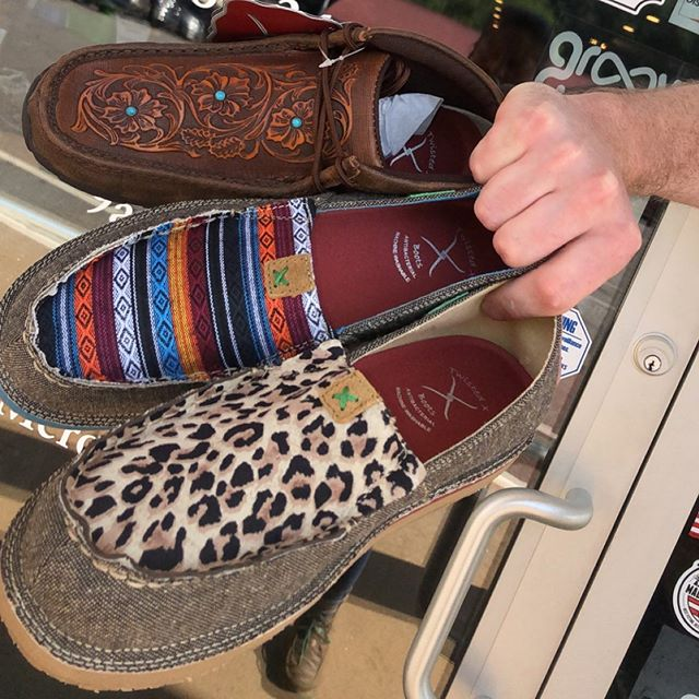 Some new goods from @twistedxboots for you ladies! We have new styles of driving mocs, loafers, and flip flops for your wearing pleasure. We have the A/C on at a cool 69° and always have good music playing for your shopping pleasure 😎🤠