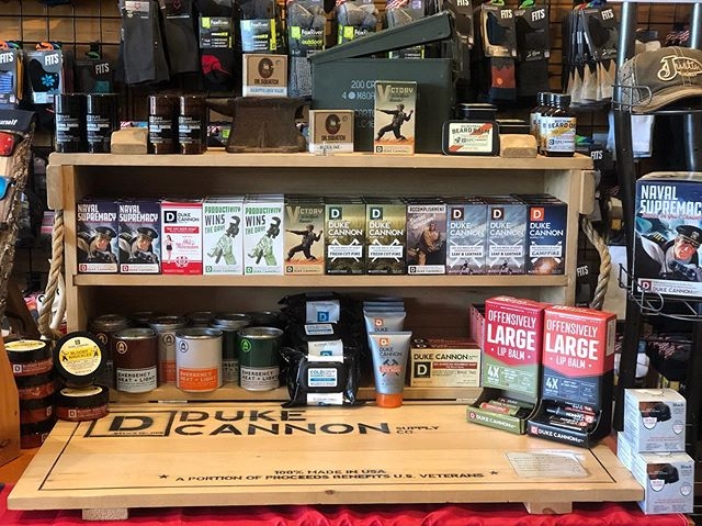 Need a last minute Father's Day gift? We've got exactly what you need! Make him feel manly with Duke Cannon products. They make everything from soap, hand repair balm, chapstick, and natural deodorants to beard balms and oils, face wash, and cooling towels. We know Duke Cannon is a perfect match for all dads' needs! #DukeCannon #foxmercantile #fathersdaygifts #828 #workinman #bigasoaps #bestbeard #bloodynuckles #trenchwarfare #offensivelylarge