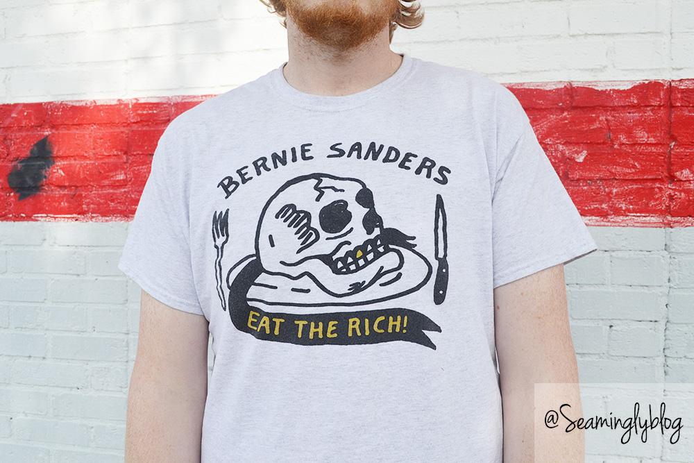 bernie sanders has a posse eat the rich heavy slim eric kenney