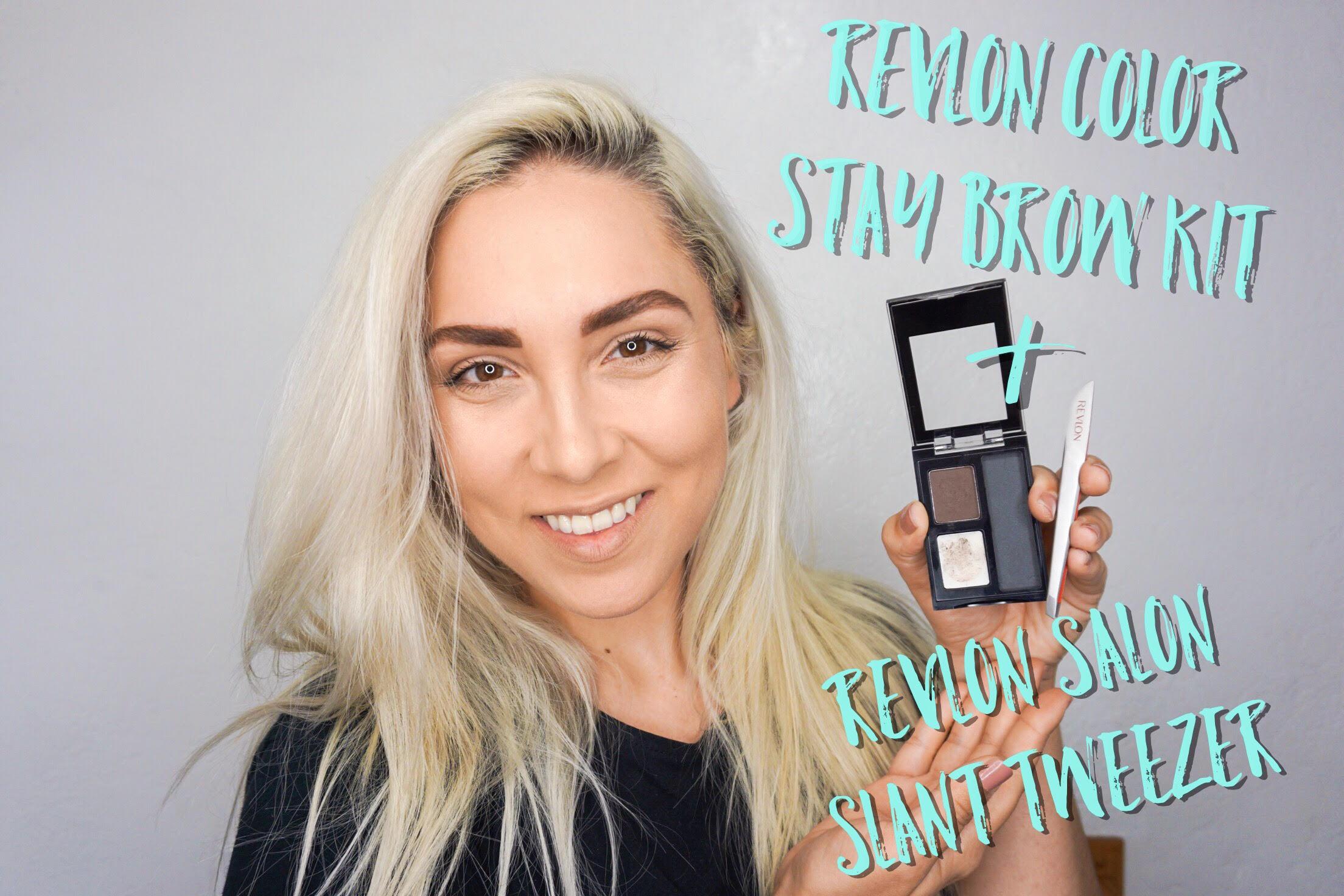 Revlon Color Stay Brow Kit &Salon Slant Tweezer:Product Use -