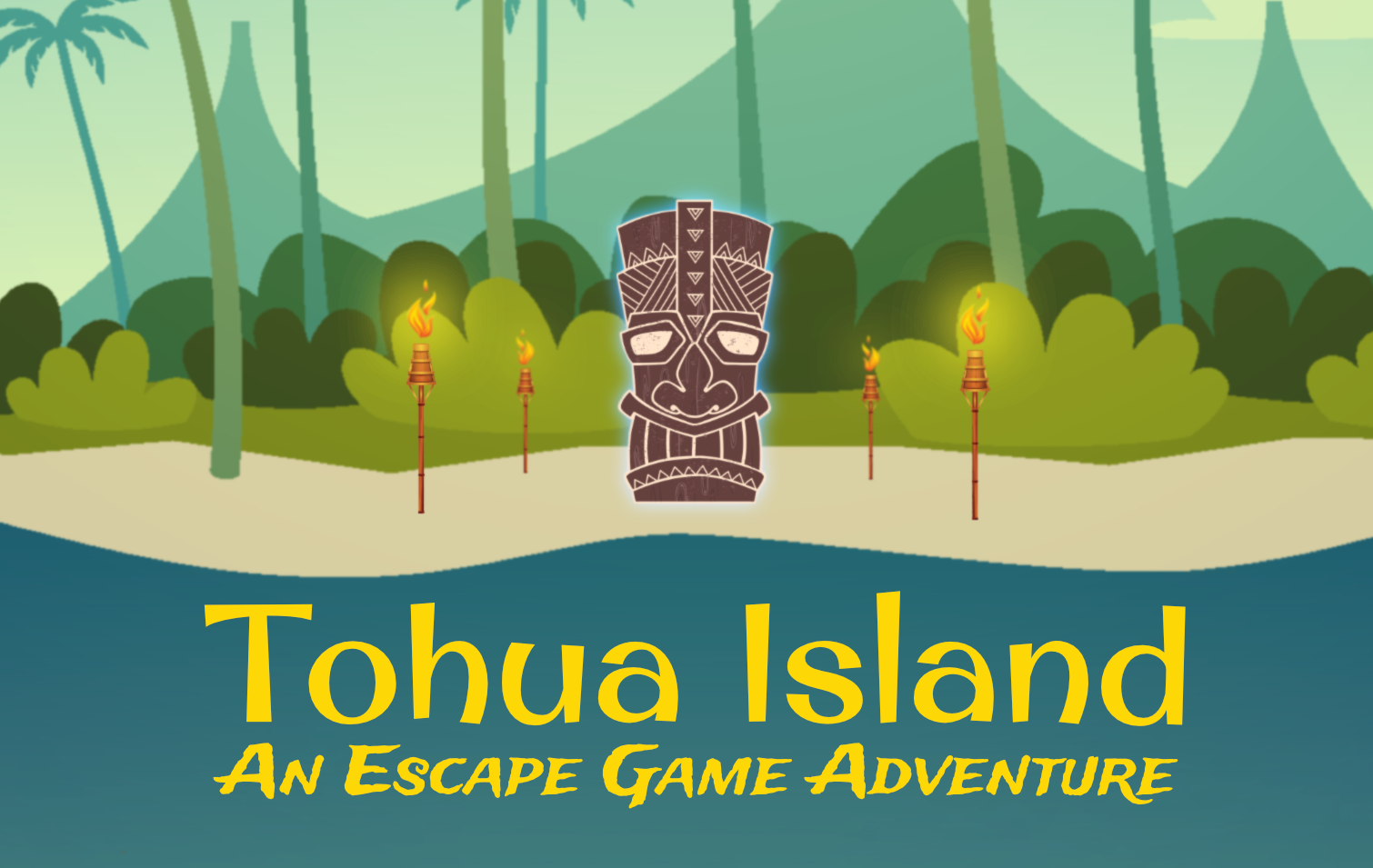 TOHUA ISLAND - Te Aroha, sorceress of the soul and wife of Tāwhirimātea, the god of wind and storms, has become angry with your island. As punishment, she has unleashed Tāwhirimātea's elemental children. They will wreak havoc on your small island if they are not found and put back in their places.Can you work together to gather their tikis and save Tohua Island?Tohua Island is a 1 hour+ game, designed for 12-64 players.
