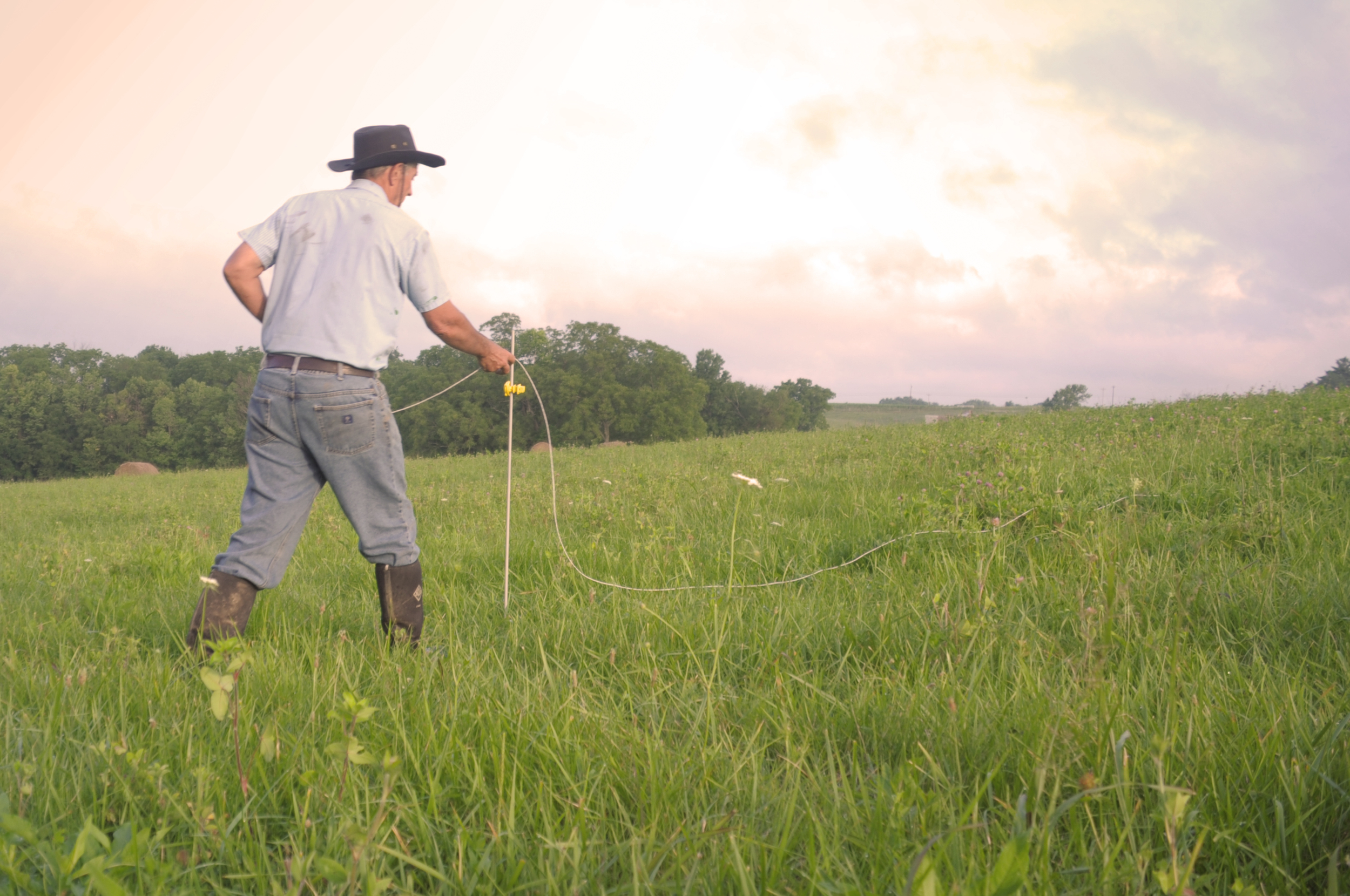 Moving the fence for rotational grazing