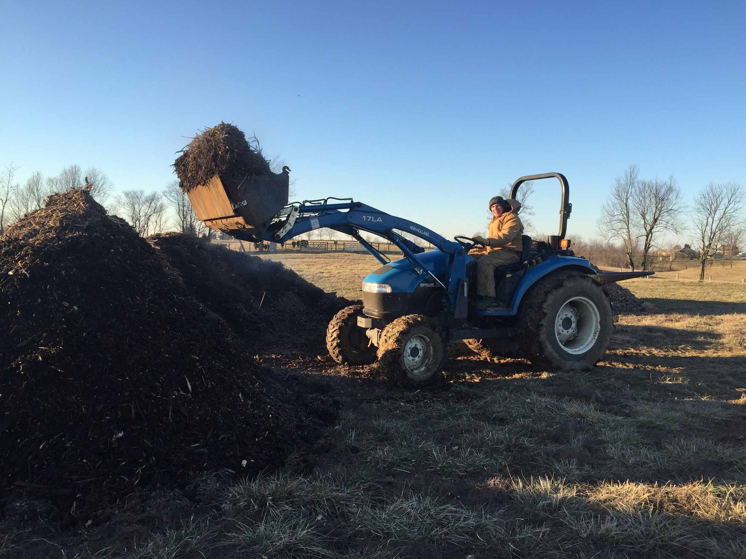 Static pile composting