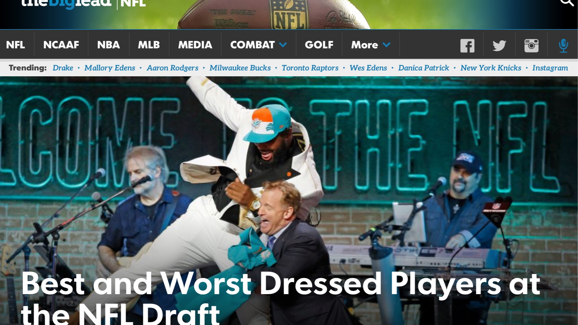 The Big Lead , April 26, 2019   Best and Worst Dressed Players at the NFL Draft