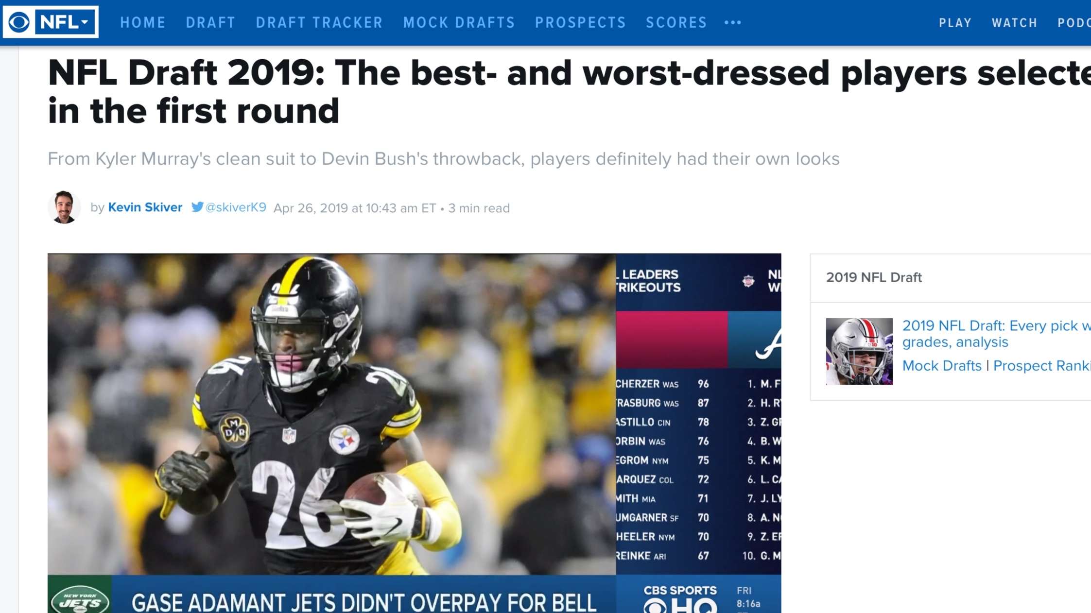 CBS Sports , April 26, 2019   NFL Draft 2019: The best- and worst-dressed players selected in the first round