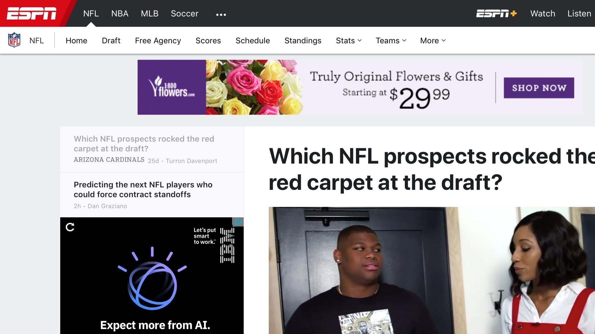 ESPN , April 29, 2019   Which NFL prospects rocked the red carpet at the draft?