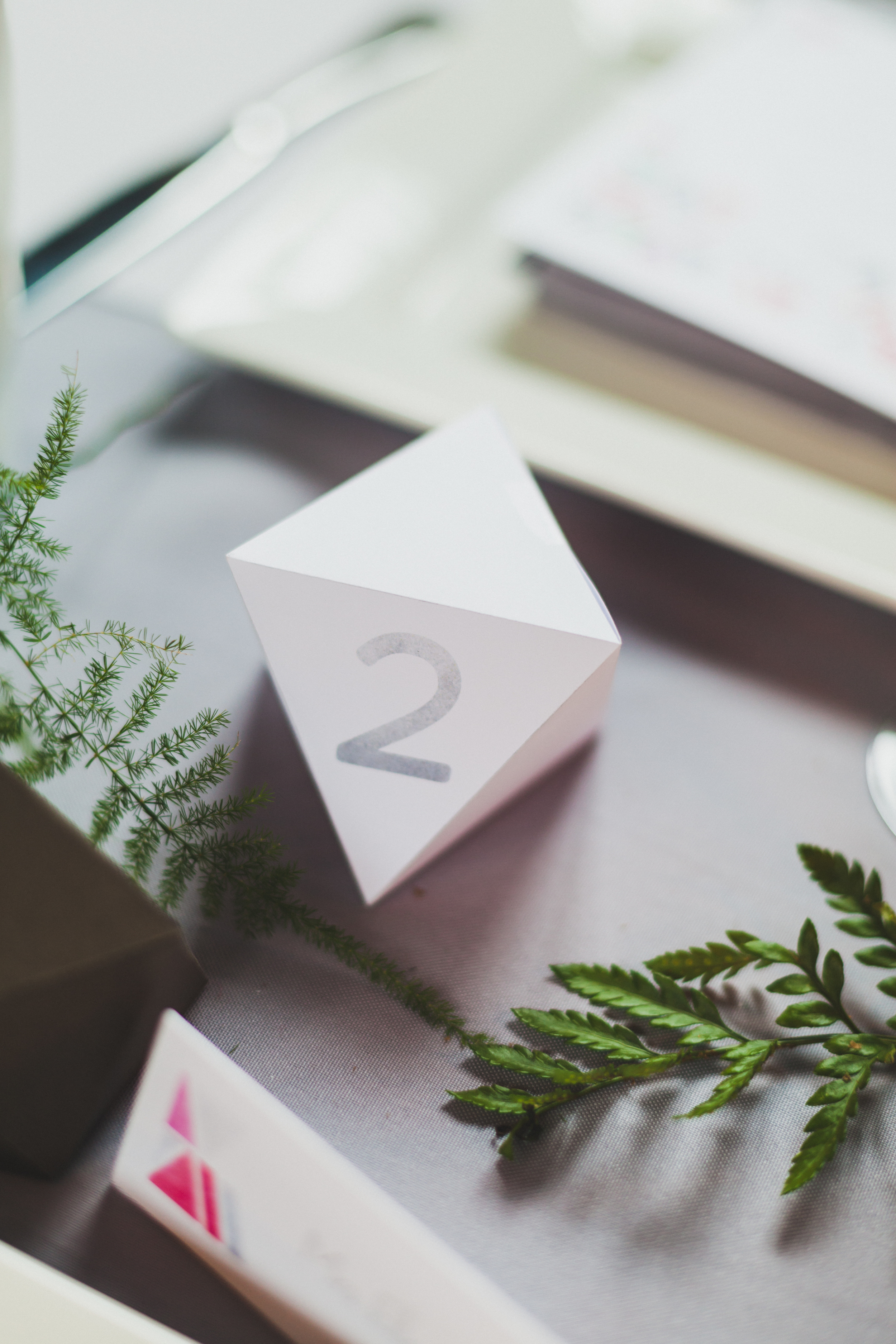 Paper by JLee: Modern Geometric Wedding Style Shoot Table Number