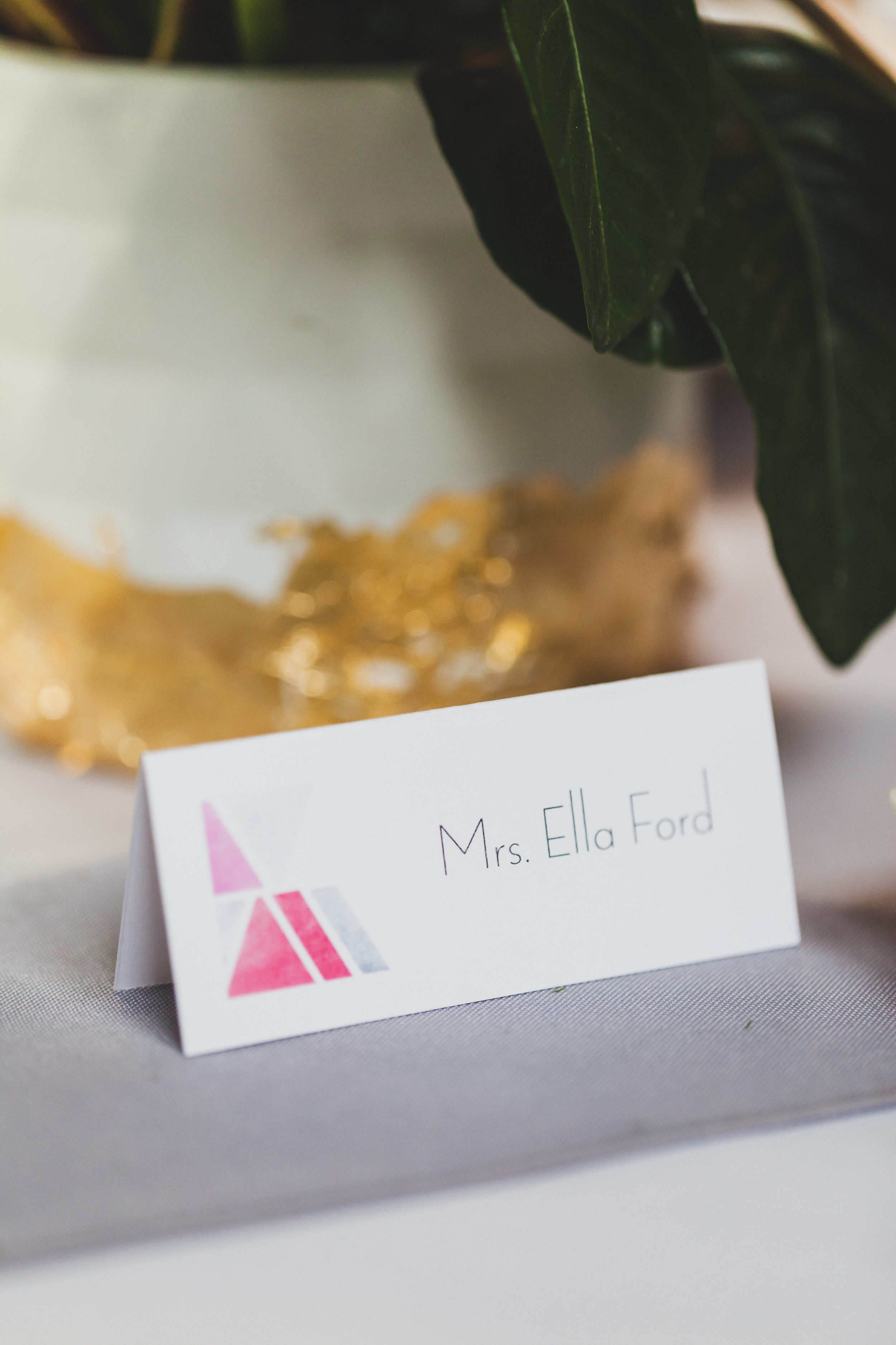 Paper by JLee: Modern Geometric Wedding Style Shoot Card