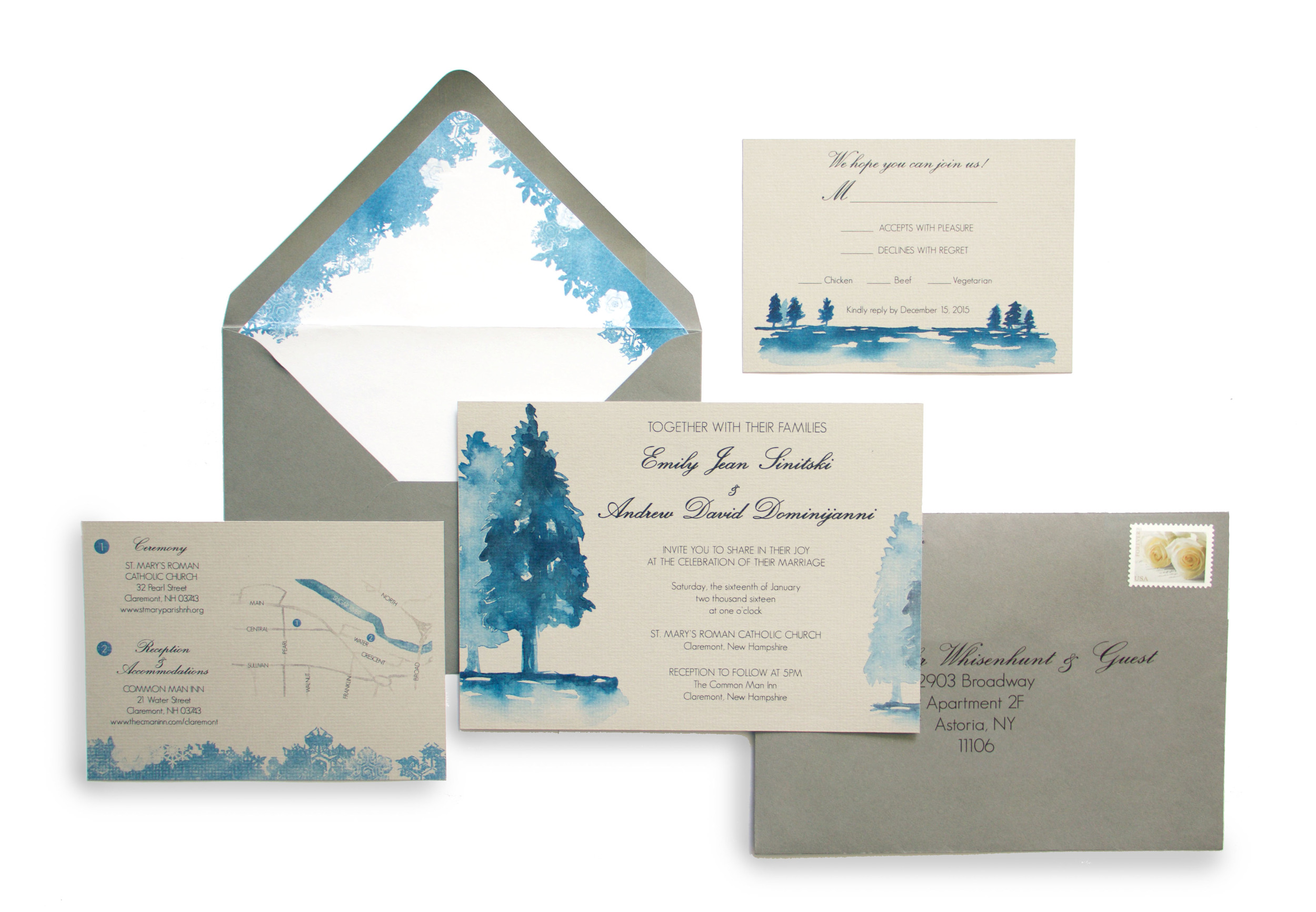 Paper by JLee: Winter Wedding Invitations