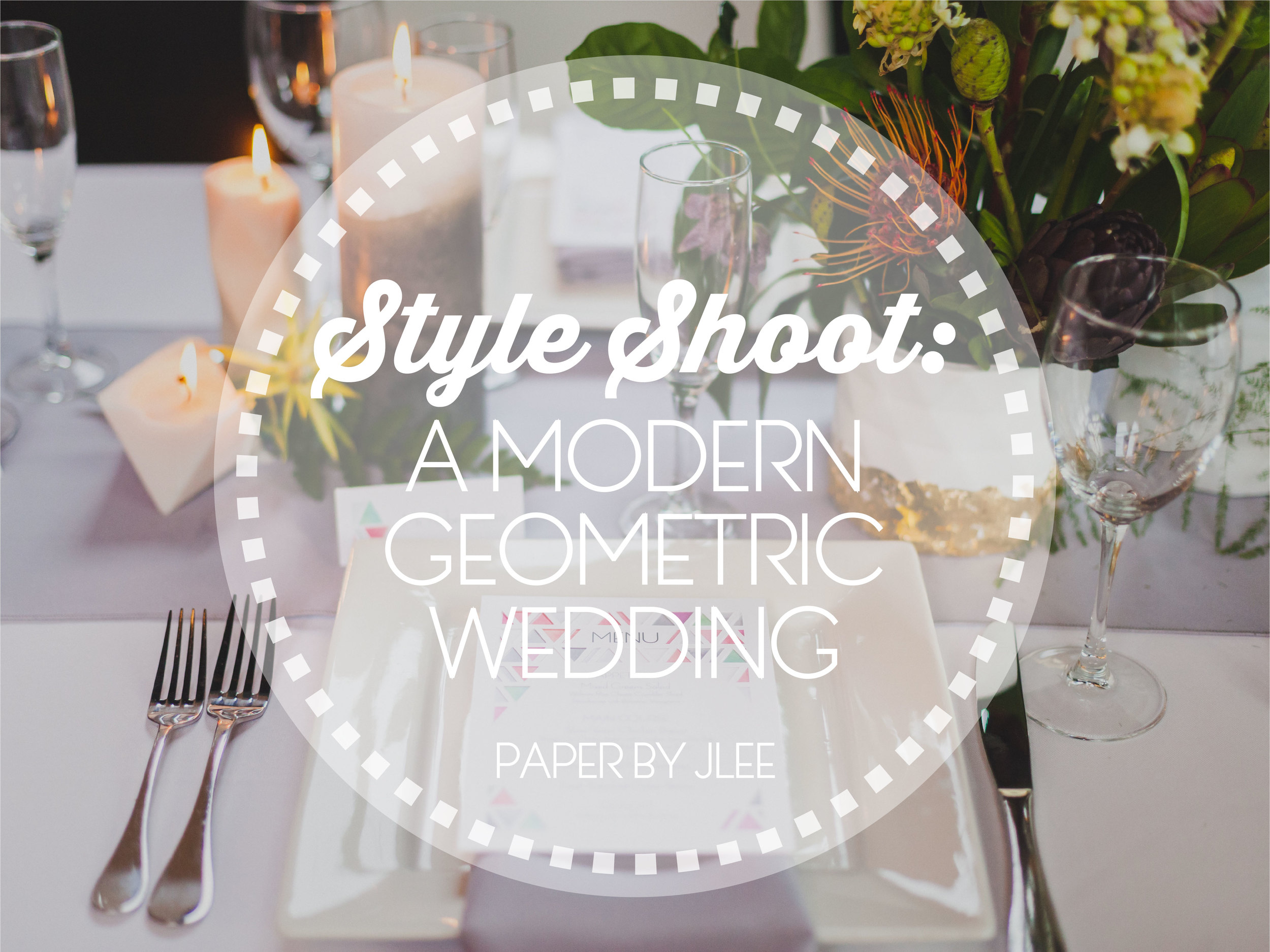 Paper by JLee: Modern Geometric Wedding Style Shoot