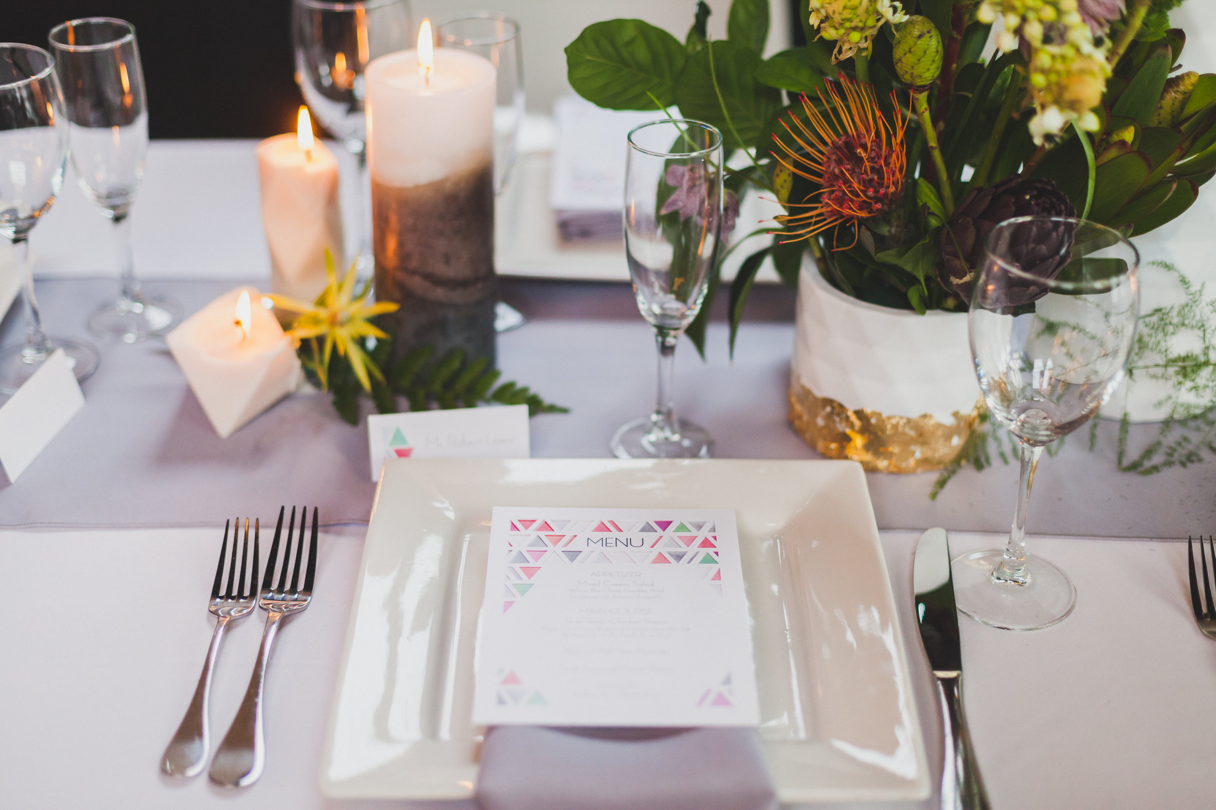 Paper by JLee: Modern Geometric Wedding Style Shoot