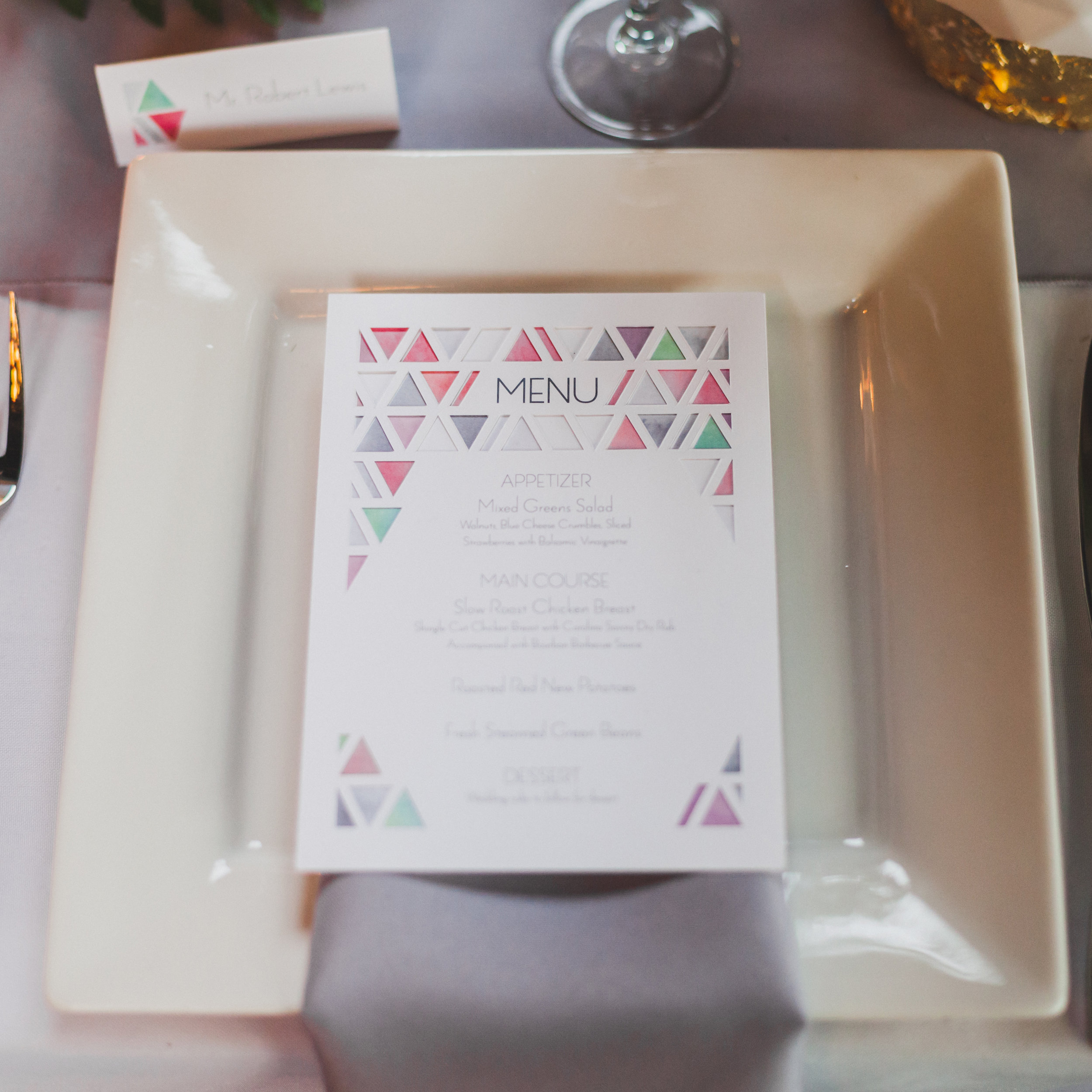 Menu from the style shoot.  Photo Credit:   Elvira Kalviste
