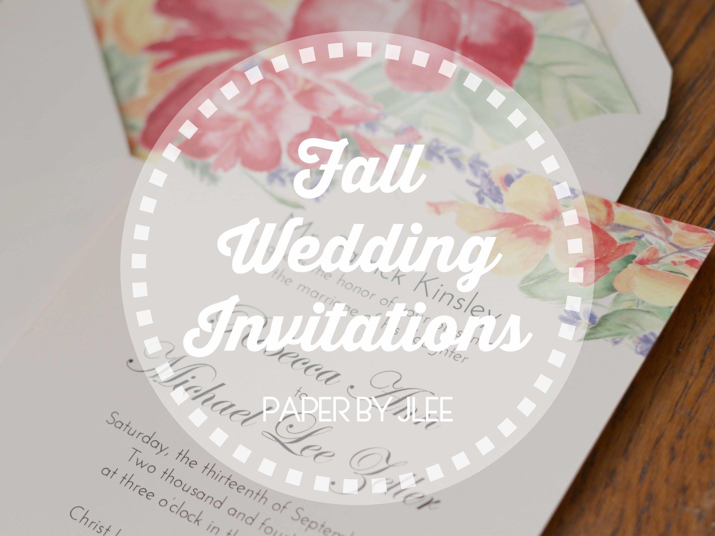 Paper by JLee: Pennsylvania Fall Wedding Invitations