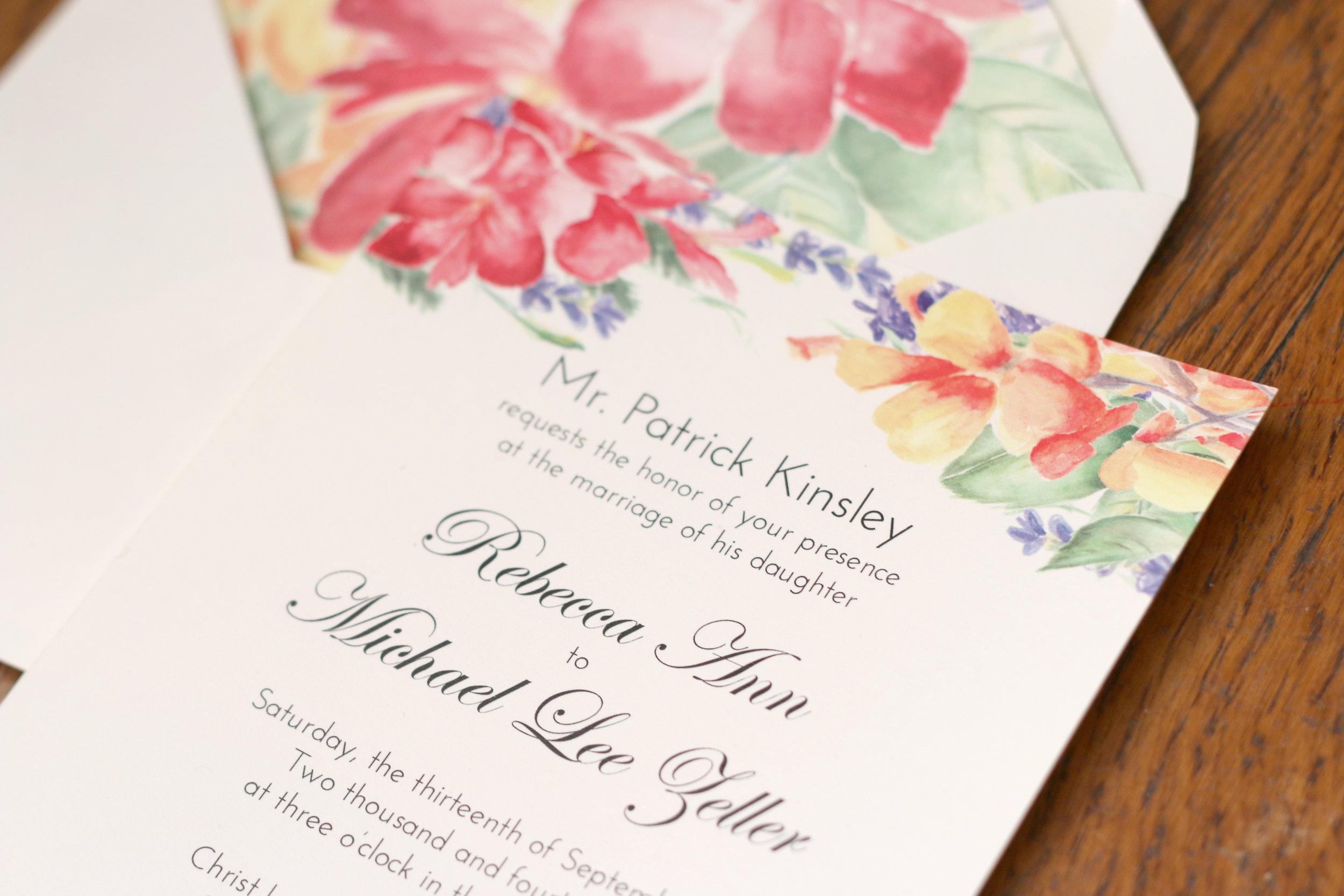 Paper by JLee: Pennsylvania Wedding Invitation