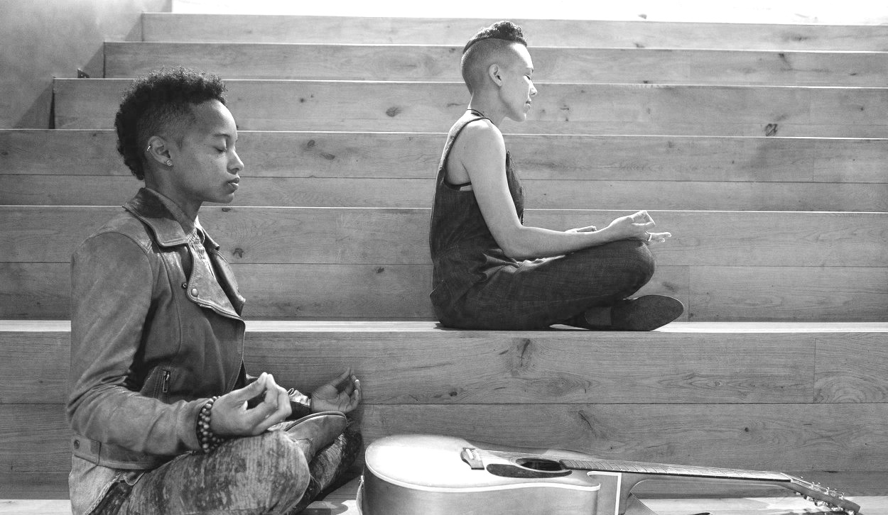 BLACK MOON MONASTICS - Black Moon Monastics are a Queer Black Aesc(th)estic Sonic duo weaving Soul-Folk, roots & rhythms, healing harmonies, and ancestral incantations to Awaken all beings to Freedom F(l)ight. Reflecting soular light, these expansive extraterrestrials cross genre, time, and space, conjuring unapologetic Black Magik with austronomous audacity. Impossible to confine to traditional musical methodologies, these Black Fe Folk play cast iron skillets, gumbo pots, medicine jars with sticks & stones, igniting our bones. These contemplative conjurings subversively inspire prayerful processionals that mobilize the Invisibilized. Descending with Dignity, this interdisciplinary duet brings reverence for Blackness wherever they land. #MoonLanding2018 #RootToRiseBlack Moon Monastics is the collective medicine of #DignityinProcess Artivist Director, ChE, and Director of Freedom Freequencies, kei slaughter.