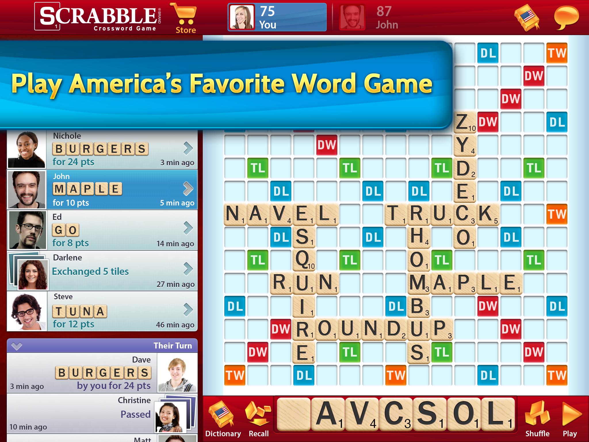 Scrabble (iOS) - Screenshot