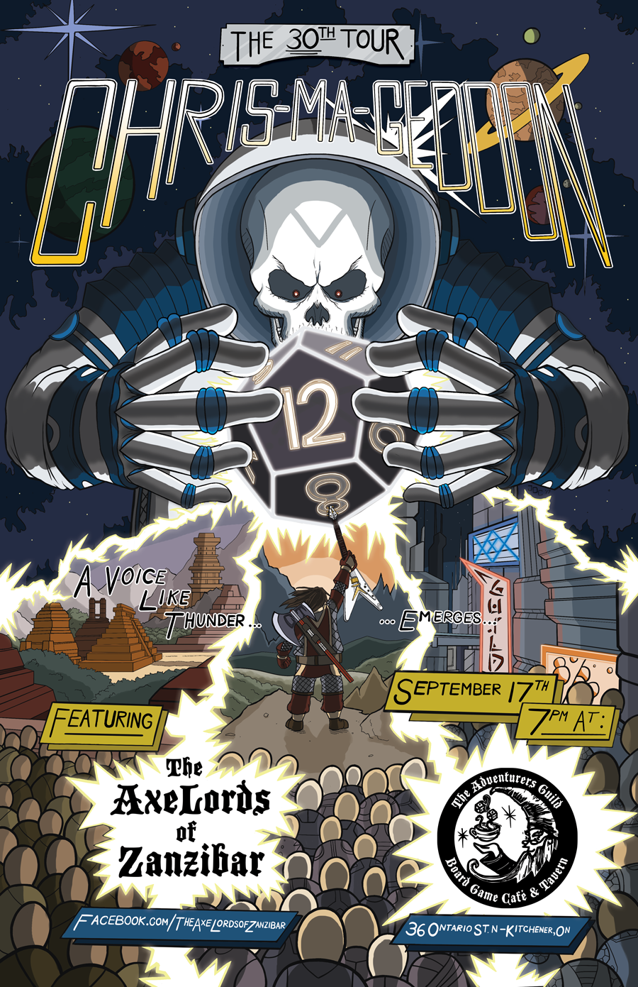 Chris-Ma-Geddon Event Poster