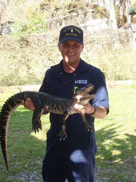 Then LTJGKilgo photographed during his first tour as an active duty officer at MSU Houma.